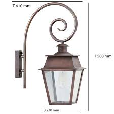 historical wall lantern bordeaux mm with crozier bracket