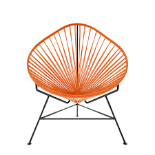 Acapulco Rocking Chair Acapulco Chair Orange Weave On Black Frame Innit Touch Of Modern