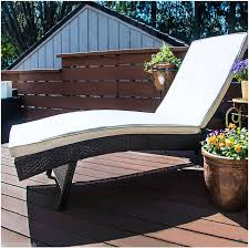outsunny reclining pe rattan wicker patio lounge chair aosom ca
