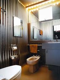 cave bathroom home design galvanized sheet metal corrugated metal panels give any room an