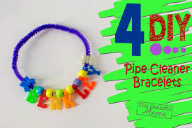 4 diy pipe cleaner bracelets the realistic mama