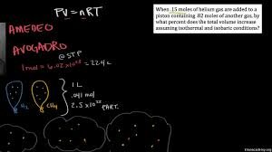 derivation of gas constants using molar volume and stp video