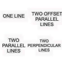 One Line Memes - one line two offset parallel lines two two parallel perpendicular