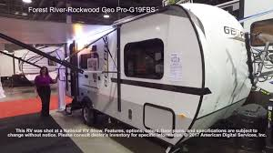 rockwood trailers floor plans forest river rockwood geo pro g19fbs youtube