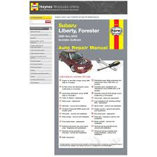 haynes manuals online subaru liberty forester outback