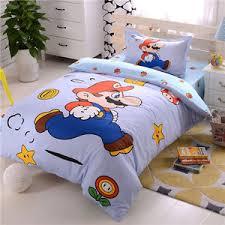 Mario Bros Bed Set Mario Bros Cotton Bedding Set Bed Sheet Duvet Cover