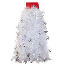 12ft silver snowflake tinsel garland wondershop target