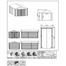 porta box auto garage eco box auto 3x5 5 motorini casetta legno ripostiglio block