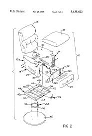 Swivel Rocker Chair Base by Patent Us5435622 Swivel Recliner Rocker Chair Having Preloaded