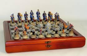 civil war generals chess set chess pieces storage board