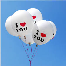 discount balloon delivery wholesale i u wedding party decorated balloons 12 inch
