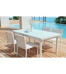 Glass Top Patio Dining Table White Aluminum Glass Top Patio Dining Table
