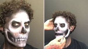 the made up dead full skull makeup tutorial youtube