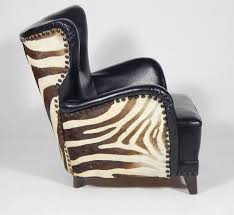 zebra swivel chair danish winged club chair with vintage zebra skin circa 1950 at