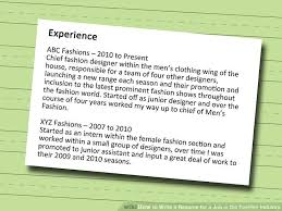 how to write a resume for a job in the fashion industry 12 steps