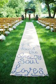 country wedding aisle decorations