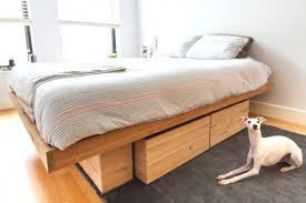 Platform Bed Canada Storages King Bed Frame With Drawers Underneath California King