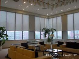 Modern Curtains For Kitchen by Modern Curtain 65 Pvc 35 Polyester Grey Lines Sun Screen
