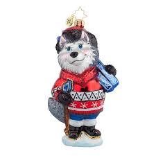 Animal Ornaments Christopher Radko Ornaments 2015 Radko Husky Skier Ornament