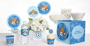 blue baby shower decorations boy baby shower themes by babyshowerstuff