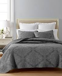 Grey Quilted Comforter Quilts And Bedspreads Macy U0027s