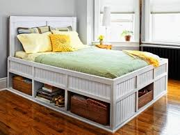 3 Quarter Bed Frame Build A Platform Bed With Lots Of Storage Http Www