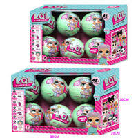 Lol Blind 6 Pcs Lol Lil Outrageous 7 Layers Surprise Ball Series Doll Blind