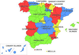 Portugal Spain Map by Https Upload Wikimedia Org Wikipedia Commons 6 6a Ccaa Spain Png