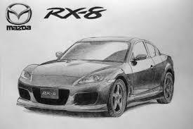 sports cars drawings mazda rx 8 pencil drawing by al54xx on deviantart
