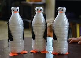 a of fish penguin unit and water bottle penguins
