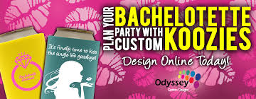 wedding personalized koozies odyssey custom designs personalize koozies