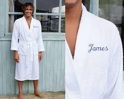robe de chambre homme personnalisé cadeau brodé peignoir homme avec prénom