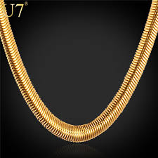 trendy gold chain necklace images Necklaces with 18k stamp fashion men jewelry wholesale free jpg