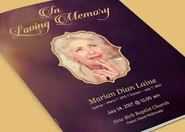 funeral program in loving memory funeral program brochure templates creative market