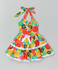 lele for kids green hawaiian floral halter dress toddler u0026 girls