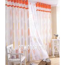 Orange And White Bedroom Inspiration Of Orange And White Curtains And Tan And Orange