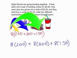word problems using distributive property youtube