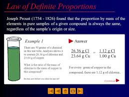 daltons law of definite proportions example plymouth dome