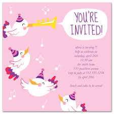birthday invitation wording kids boy girl printable ms word birthday invitation