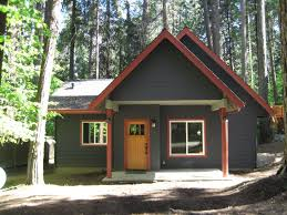 house dark exterior paint color on ranch house 1950s style interior