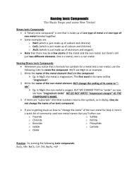 ionic naming formulas worksheet