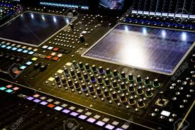 Studio Mixer Desk by Professional Audio Mixer Desk At He Concert Stock Photo Picture