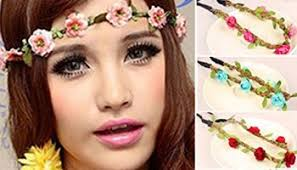 hippie flower headbands hippie flower garland crown festival wedding hair wreath boho