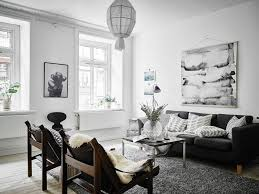 decordots scandinavian apartment with oversized watercolor art