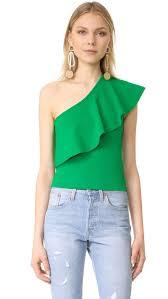 green one shoulder tops dress images