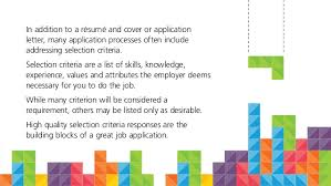 how job selection criteria is like tetris