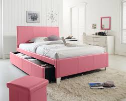 Upholstered Bedroom Furniture by Standard Fantasia Pink Upholstered Trundle Bed
