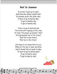 bed in summer lyrics printout midi and video