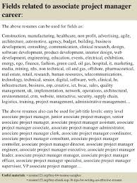 Project Management Resume Template Top 8 Associate Project Manager Resume Samples