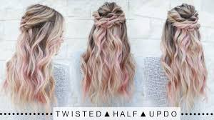 272 best half up half down with braids images on pinterest twisted half updo hairstyle super easy youtube